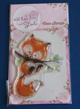 Wild Rose Studio 'Fox on Branch' Clear Stamp