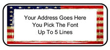 Custom Personalized USA American Flag Freedom Return Address Mailing Labels