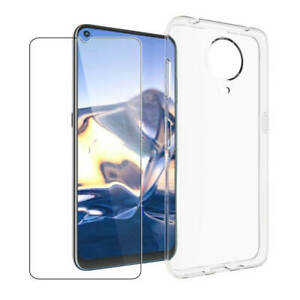 For Nokia G50 5G Phone Case+2X Glass Screen Protector Clear Gel Cover