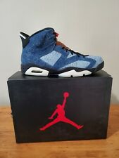 "Air Jordan 6 Retro ""Denim"" size 13 Washed Denim/Black-Sail. CT5350 401."