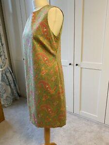 LAUREN by Ralph Lauren Paisley Cotton Shift Dress US 12 UK 14-16