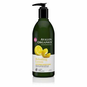 Avalon Organics Glycerin Hand Soap | Refreshing Lemon | 12 oz | Pack of 3