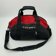 Ogio Sports Gym Bag Shoulder Strap Black & Red Athletic Sports Carrying Case