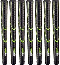 JumboMax Tour Series Golf Grips Black & Green Medium Size (+5/16) - Set of 7