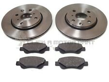 FRONT 2 BRAKE DISCS AND PADS SET NEW KIT FOR TOYOTA AYGO 1.0 VVT-i 2005-2016