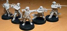 Urban Shaman and Ultramodern mercenaries set of 5 miniatures in 28mm scale