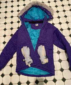 Chute Youth Ski Jacket And Gloves Size 8