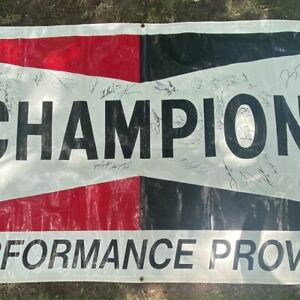 NHRA Autographed Champion Banner
