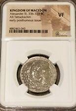 Kingdom Of Macedon Alexander the Great Tetradrachm NGC VF Ancient Silver Coin