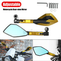 1Pair CNC Motorcycle Rearview Mirror Short Rod  Accessories 8mm 10mm Golden !VD