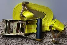 Highland Super Duty Yellow Cargo Tie Down Straps with Ratchet & J-Hooks (2 pack)