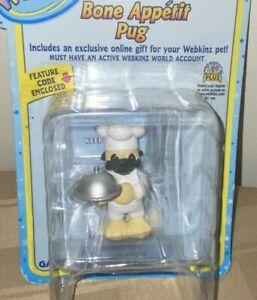 "Webkinz 3"" Figurine Bone Appetit Pug With Secret Online Code By Ganz NIB"
