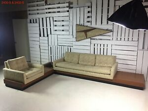 Vintage Adrian Pearsall Craft Associates 2400-S & 2402-S Sectional All Original