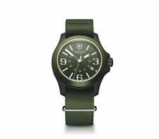VICTORINOX Swiss Army 241514 Mens Green 1-Piece Nylon Strap Watch NEW!
