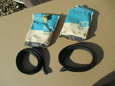 NOS 66 67 Chevelle Sport Coupe conv Door Window Glass Run Channel felt strips