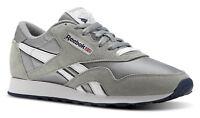 Reebok Classic Nylon Platinum, Jet Blue Mens Running Tennis Shoes Item 36088