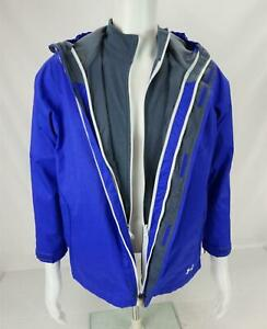 Under Armour Cold Gear Fleece Zip-Out 3 in 1 Hooded Jacket Blue Youth Boy's XXL