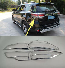 Chrome Tail Rear Light Lamp Cover Trim for 2014-2016 Toyota Highlander new
