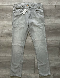 The Children's Place Boys Skinny Jeans Dove Grey Adjustable Waistband Size 16
