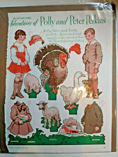 Paper Dolls Adventures of Polly Peter Perkins Thanksgiving By Gertrude Kay 1934