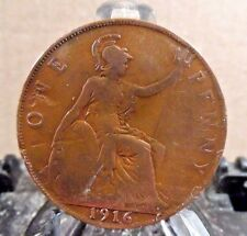 CIRCULATED 1916 1 PENNY UK COIN (20217)2