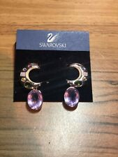Swarovski crystal drop earrings with multi-coloured crystals