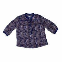 Whistles Women's Short Sleeve Blouse 12 Colour:  Multi