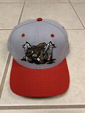 Vintage New Era Batavia Muckeogs Minor League Baseball Snapback Hat Rare
