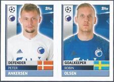 TOPPS CHAMPIONS LEAGUE-2016-17- #QFD03-04-COPENHAGEN-ROBIN OLSEN/PETER ANKERSEN