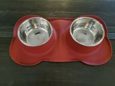 Sequoialake Dog Bowls with Anti-Overflow and Anti-Skid Silicone Dog Food Mat, St