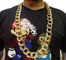 HIP HOP CHAIN NECKLACE • 33cm • GOLD STYLE • COSTUME #194