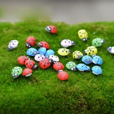 50 x Small Assorted Wooden Ladybird Stickers - Scrapbook Easter Decor Cardmaking