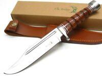 Elk Ridge ER-047 Brown Leather Wrapped Full Tang Survival Knife + Sheath