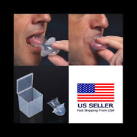 Anti Snoring Tongue Device Silicone Sleep Apnea Aid Stop Snore Sleeve ~ Aone TSD
