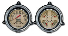 NEW Vintage USA WOODWARD 2 GA Speedo/TACH QUAD 240 FUEL 1954 CHEVY/GMC BEIGE'