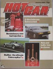 Hot Car magazine January 1983 featuring Oettinger VW Scirocco GTi