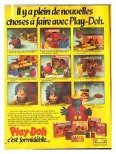 1979 DOCUMENT (ref Fip 557) PUB  :  JOUET PATE A MODELER PLAY-DOH   1page