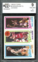 1980-81 Topps #6 Larry Bird / Erving / Magic Johnson Rookie Card BGS BCCG 9 NM+