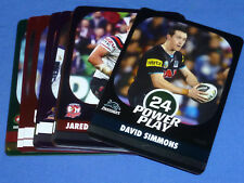 2015 NRL Rugby League Football Power Play Parallel Silver Cards X 23 N MINT Card