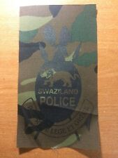 PATCH POLICE NATIONAL SWAZILAND (AFRICA) - SUBDUED SPECIAL OPERATION - ORIGINAL!