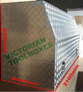 Aluminium Toolbox 3MM Full Recessed Door Open Ute Truck tool box 2100x600x820 mm
