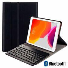 """Funda para Apple iPad (2019) 10.2"""" Polipiel con teclado español bluetooth negra"""