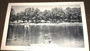 1960's Forest Lake Lakeside Tent Camping Chester, Virginia Post Card Unused