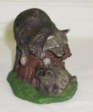 Poly Stone Raccoon w/cub Miniature Figurine