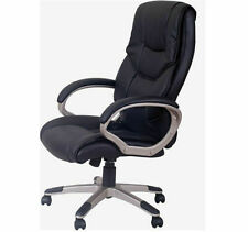 Homcom 5550-3300 PU Leather High Back Office Chair - Black