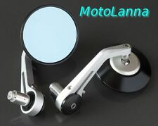 Billet CNC Aly Bar End Mirrors Silver Black Yamaha SR500 XS650 CB750 Cafe Racer
