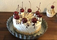 """Fake Cherry Cake 6"""" with Nuts & Cherries Realistic Prop Decoration, Fake Cakes"""
