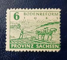 Briefmarke SBZ Provinz Sachsen 6 Pfennig GEPRÜFT Ströh Mi.Nr. 85 waA (16454)