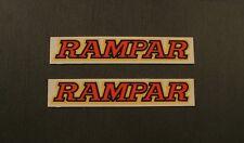 RAMPAR Stickers NOS Pair Red/Bk/Yellow vintage bicycle bike