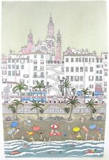 Signed Listed Cuca Romley Hand Colored Limited Place De Mention France Etching